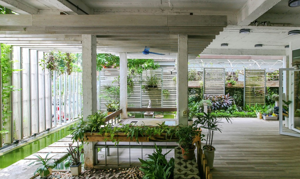 green office design. Studio 102 Transformed An Abandoned House In Hanoi Into A Growing, Green Office Space - Ecotechtube.com Design