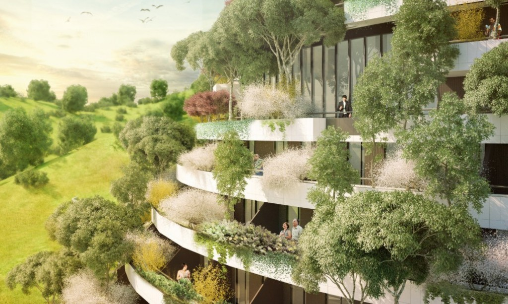 Vertical forest Mountain Hotel will clean the air in Guizhou, China
