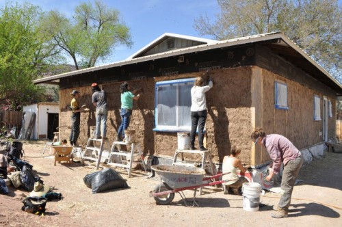Nonprofit teaches communities how to build homes out of straw, clay and soil