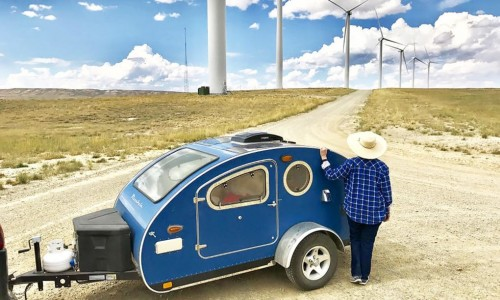 Off-grid camping just got so much better with these solar-powered teardrop trailers