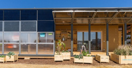 Transformable solar building changes shape to teach people how to live sustainably