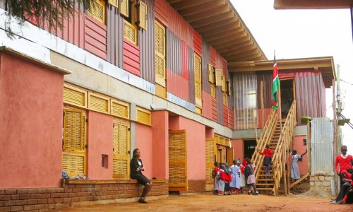 New green school in Kibera slum replaces original started by concerned Kenyan mothers