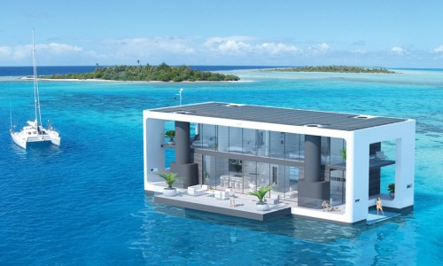 These hurricane-proof floating homes are packed with green features