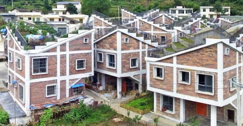 Green-roofed village shows a more sustainable way to rebuild after disasters