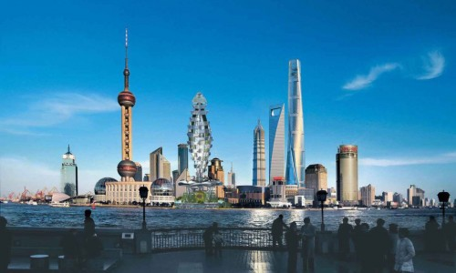 Shanghai flying car tower to clean the air with a 50,000-plant vertical forest