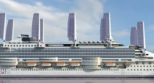 "Retractable solar sails to help power ""world's most eco-friendly cruise ship"""
