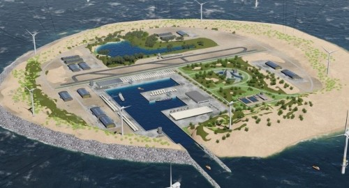 Dutch utility plans massive wind farm island