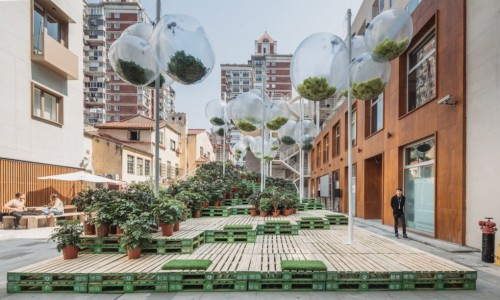 Whimsical park built of recycled materials pops up in Shanghai